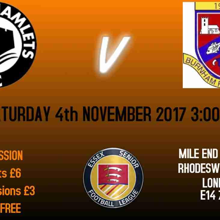 Next home fixture: Burnham Ramblers FC