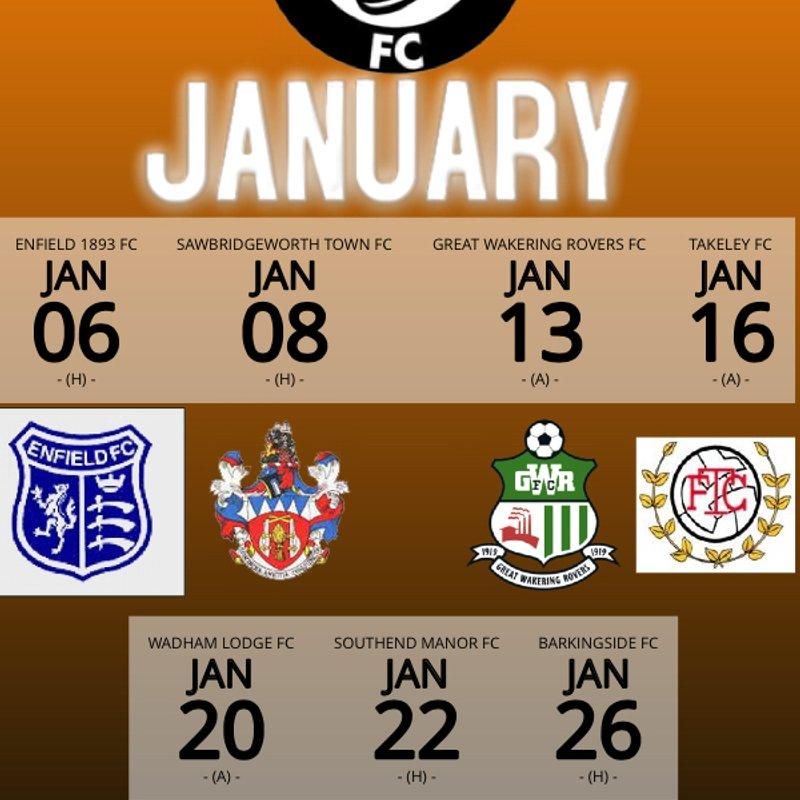 January Fixtures