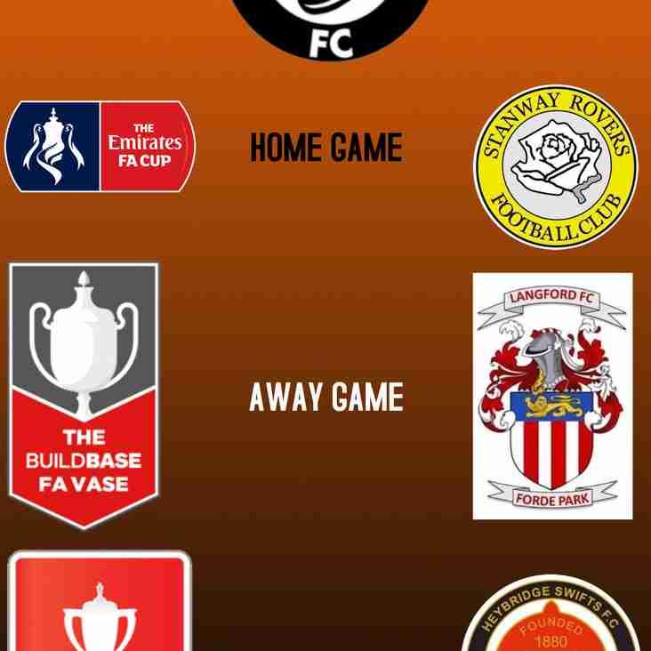 FA CUP, FA VASE, FA YOUTH CUP DRAWS