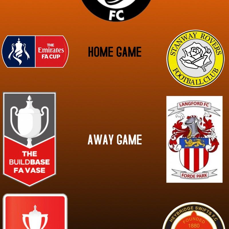 FA CUP, FA VASE, FA YOUTH CUP DRAWS