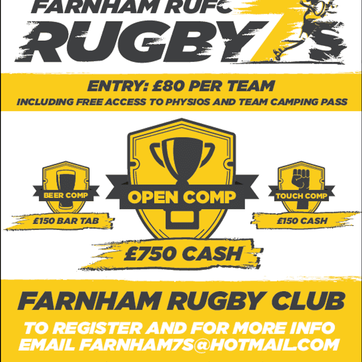 Farnham 7s Festival 28th April