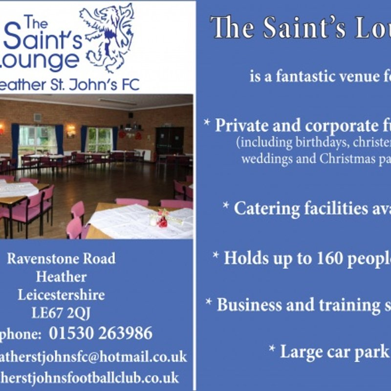 ST.JOHNS PARK FACILITIES AVAILABLE FOR HIRE