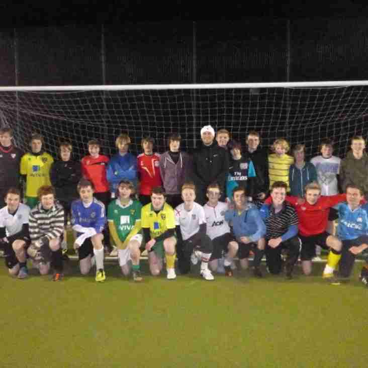 Ex England Striker takes coaching session for U15's