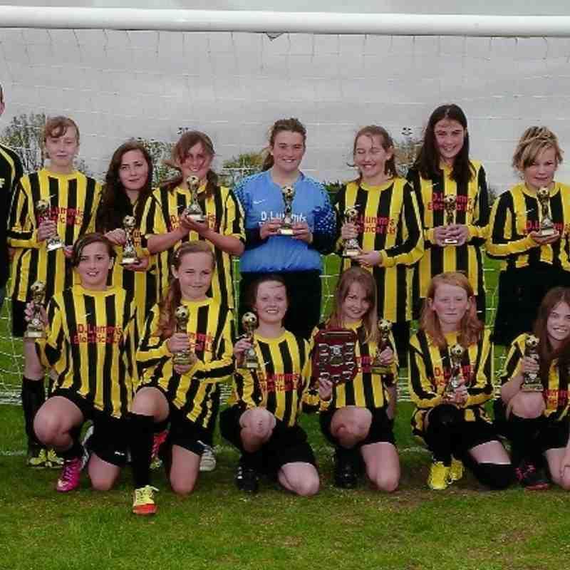 Girls U12's, B League Winners 2012/13