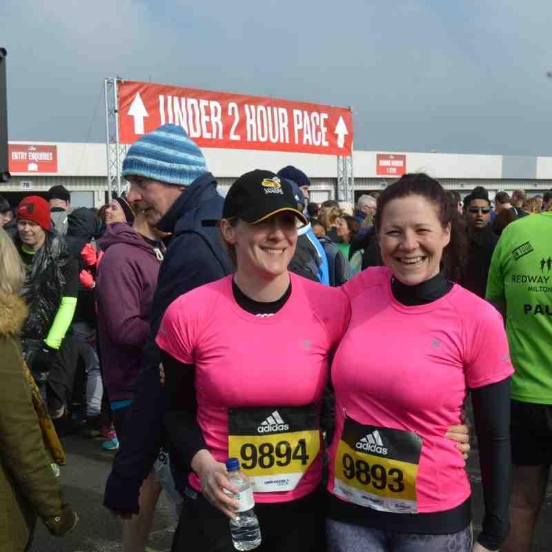 Kelly & Laura's Silverstone Half Marathon 2016