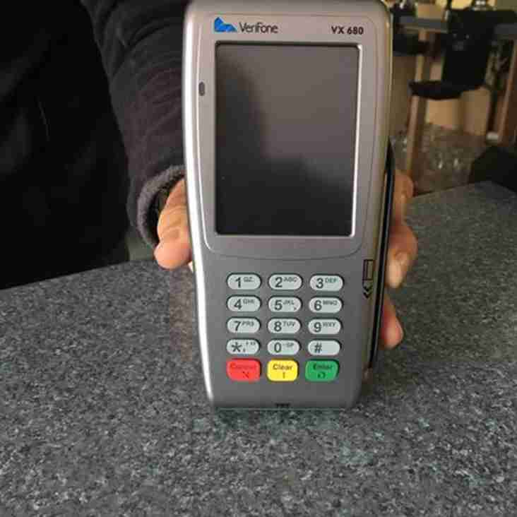 Card Payments In The Clubhouse!
