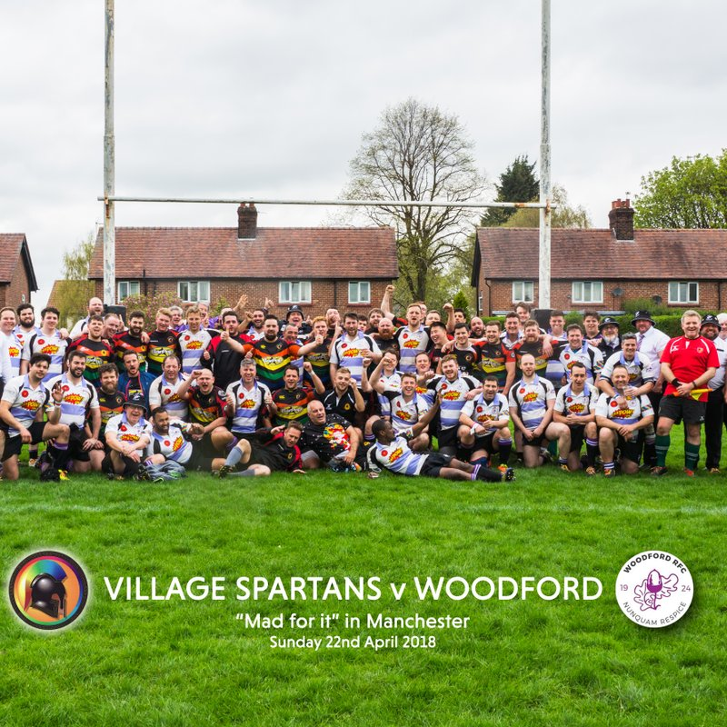 Spartans have a brilliant day with touring team Woodford RFC