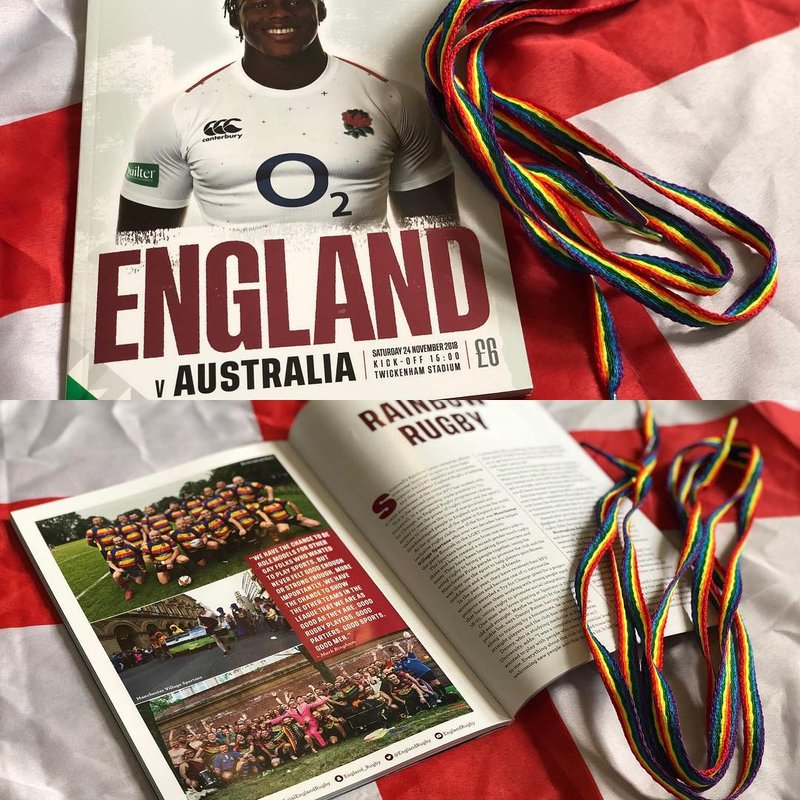 Spartans help England Rugby's Stonewall Rainbow Laces Campaign