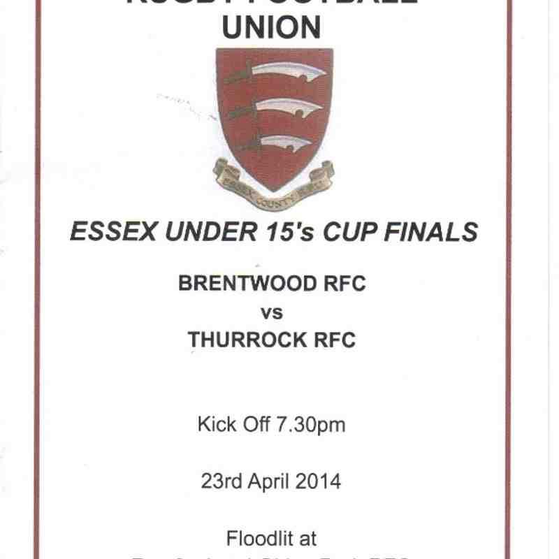 U15 Cup Final vs Thurrock 23/4/14