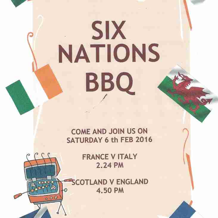 RBS 6 NATIONS BBQ THIS WEEKEND