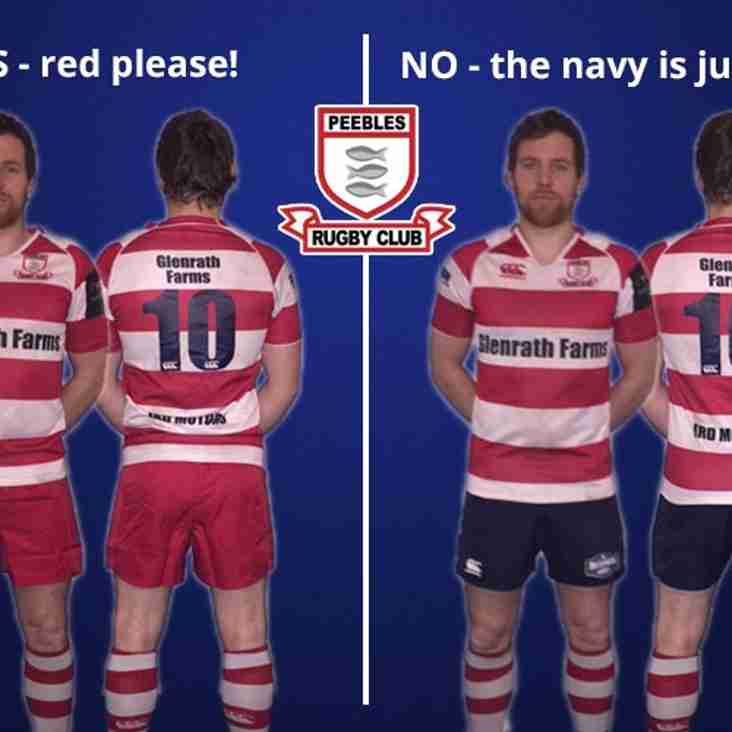 POLL! - Should Peebles RFC switch their rugby shorts to the colour red?
