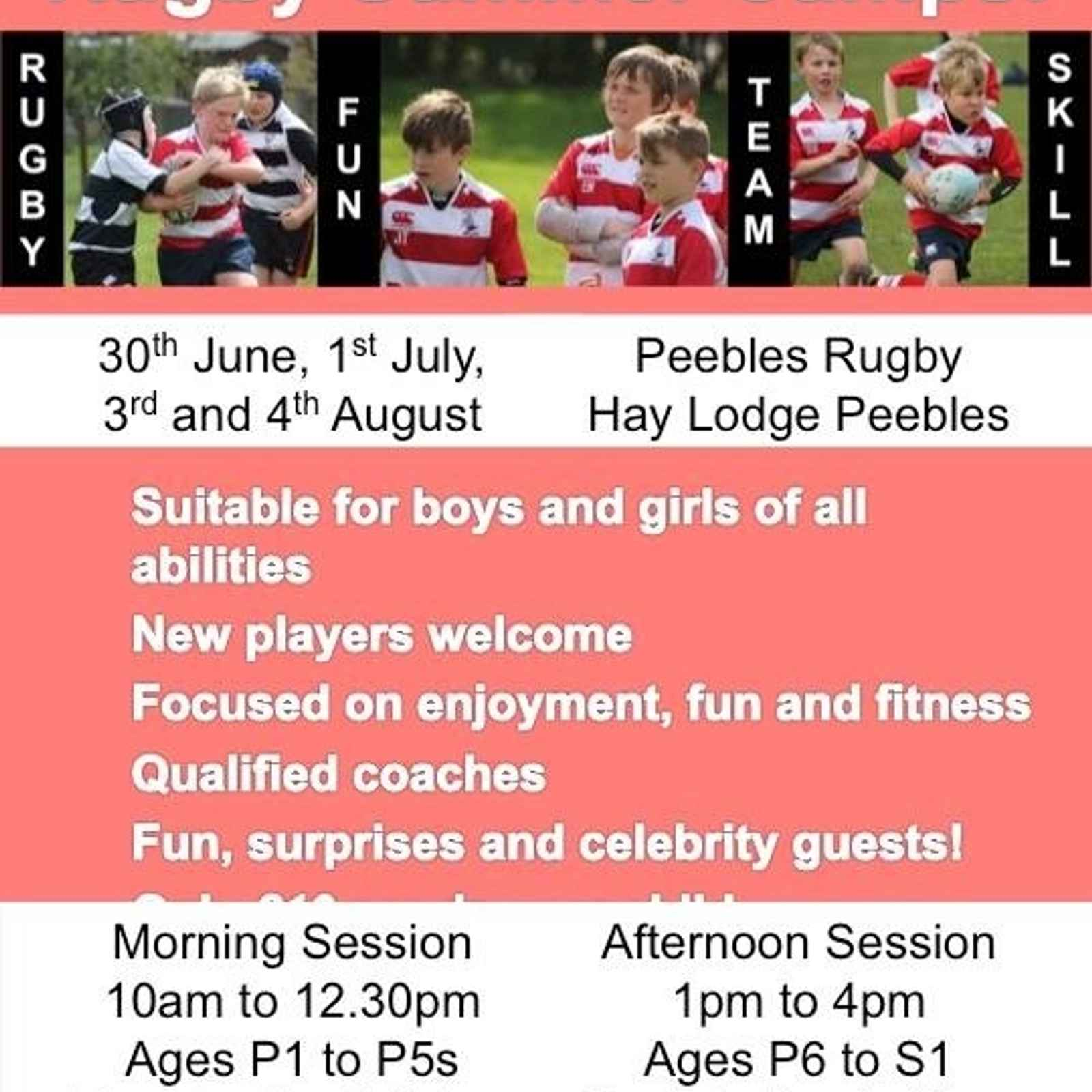 Rugby Summer Camps Announced