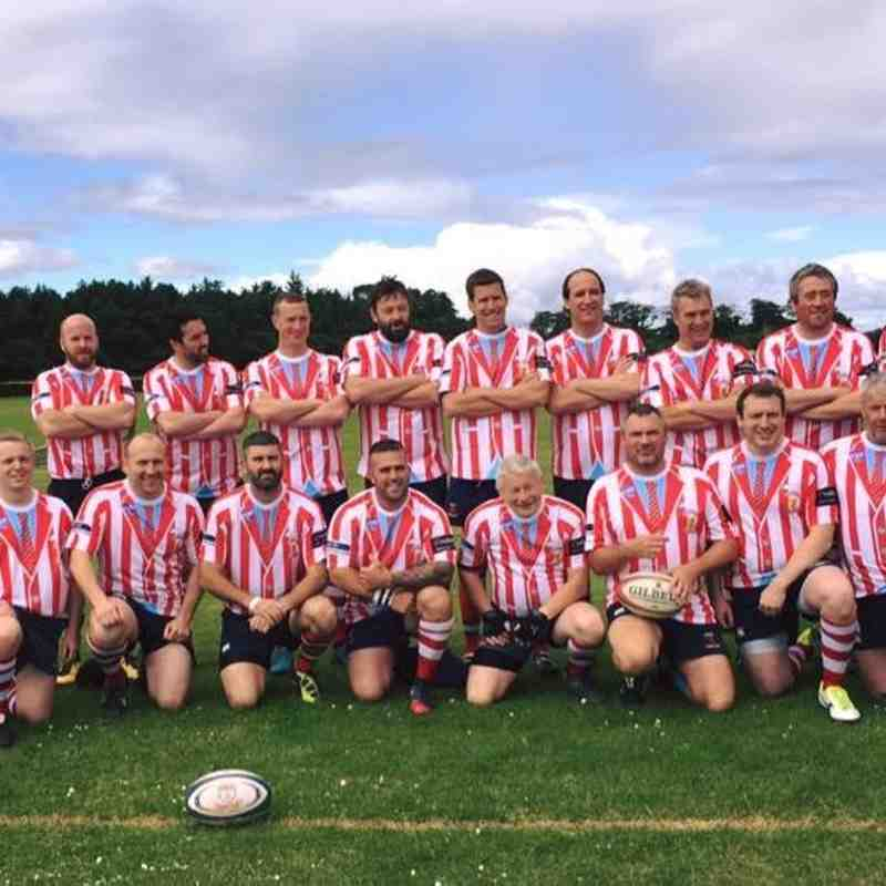 Peebles RFC OAPee's at Ricki Lees Vets Tournament - Madras Rugby Club - 20/8/2016