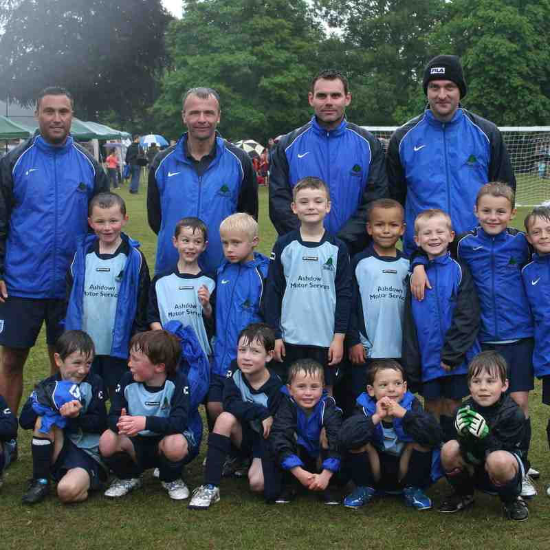 U8s (A wet day but a tournament victory)