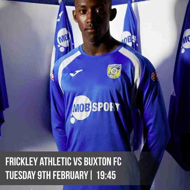 Blues v Buxton - Tuesday 9th February