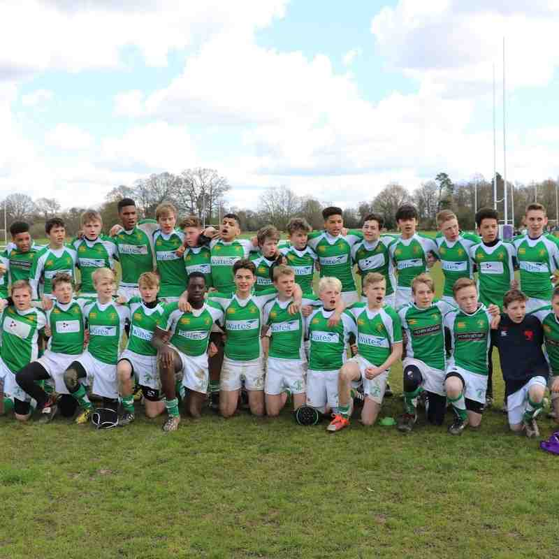 Under 14s Sussex Youth Finals Winners