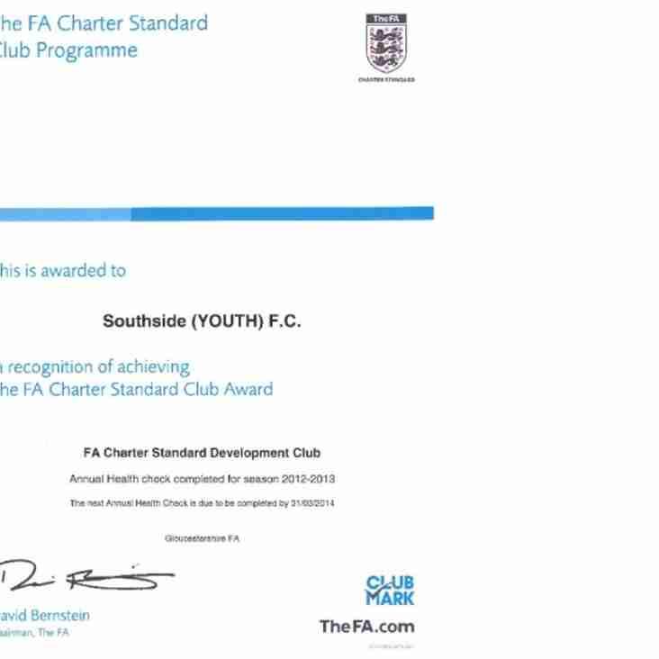 FA Charter Standard Club Award