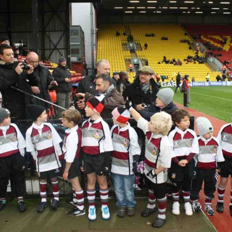BRFC Mini Section as Saracens Guard of Honour