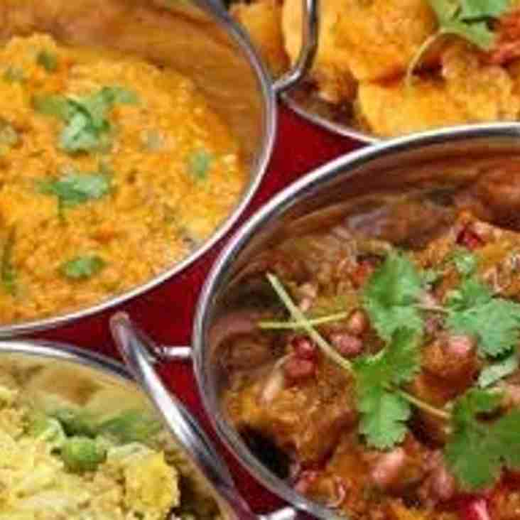 Kids First Curry Night  - Friday 27th April 7.30pm