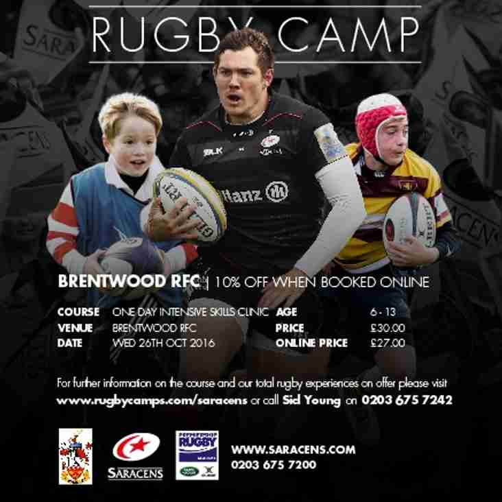 Saracens Half Term Rugby Camp  - BOOK NOW !