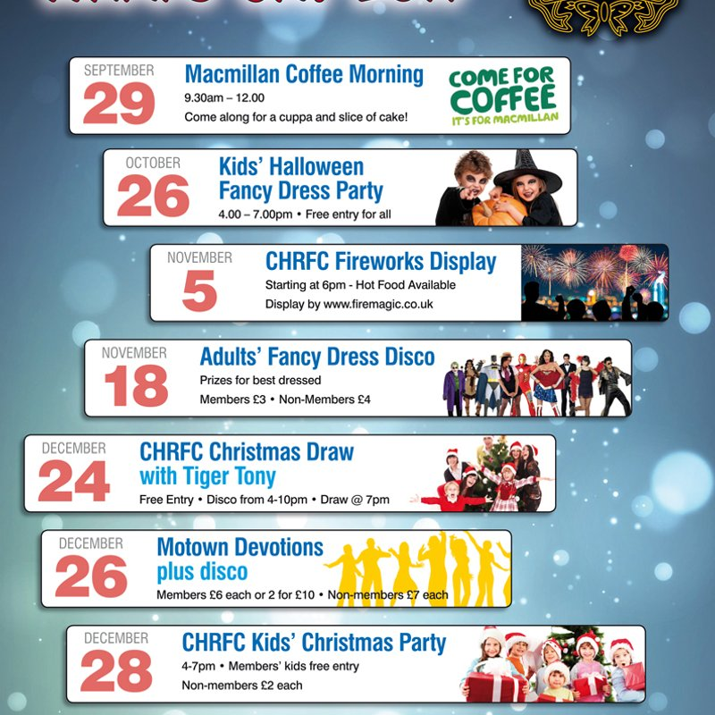 What's On? - JUST ABOUT EVERYTHING AT CONEY HILL RFC THIS AUTUMN!!!