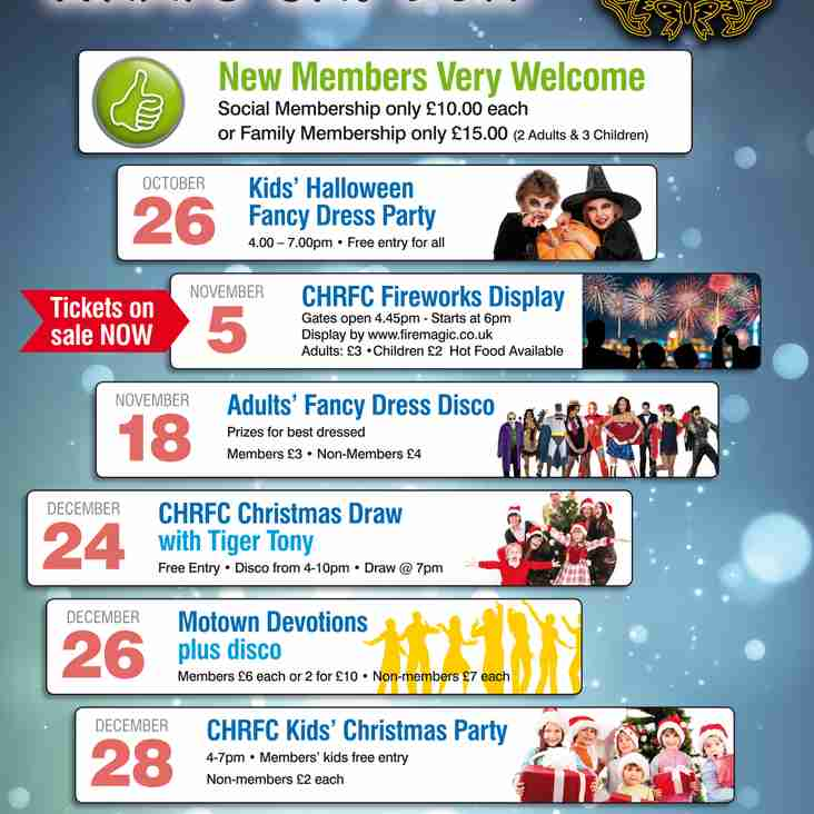 What's On? - JUST ABOUT EVERYTHING AT CONEY HILL RFC THIS CHRISTMAS!!!