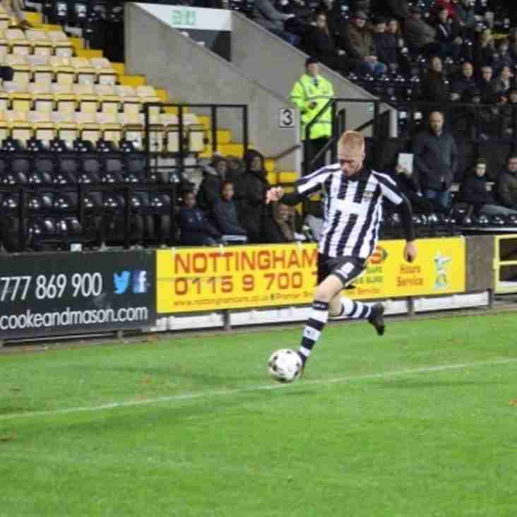 Notts County Academy Player On Loan At The Arrows.
