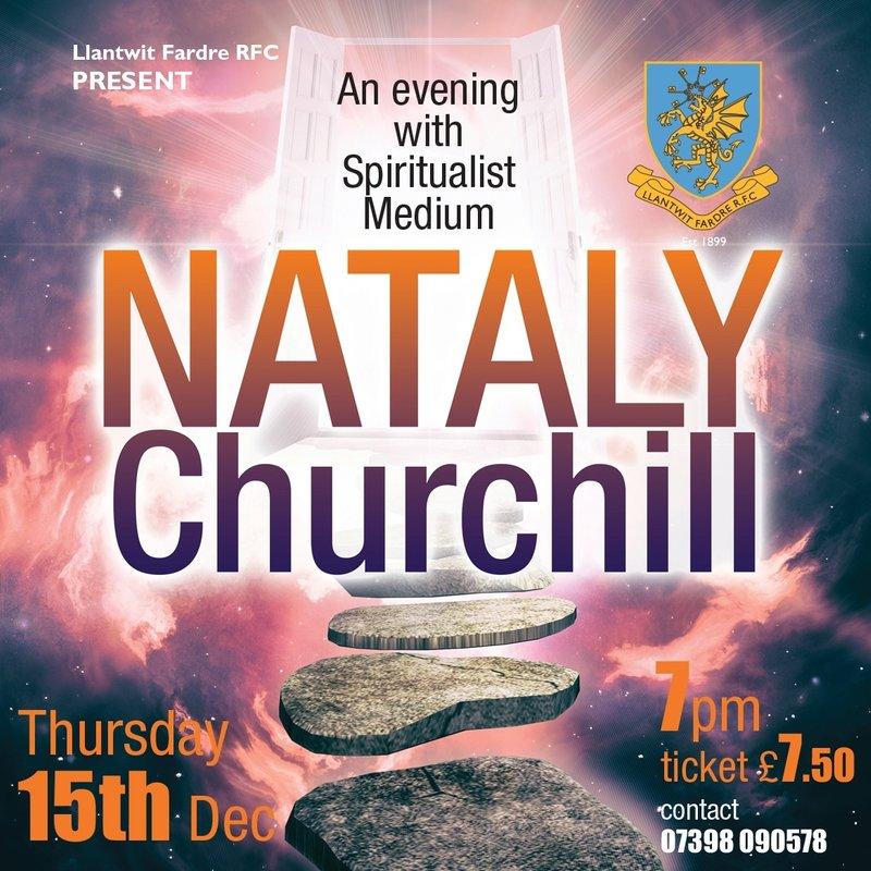 An evening with Spiritualist Medium: NATALY CHURCHILL