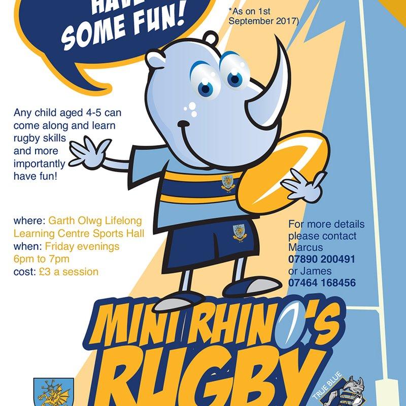 Mini Rhino's Rugby - u5s