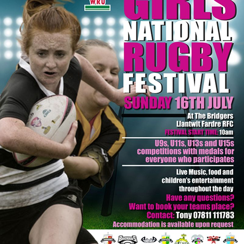 ALL WALES GIRLS NATIONAL RUGBY FESTIVAL