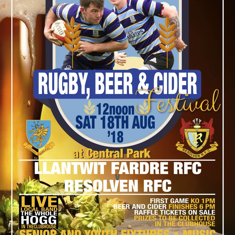 RUGBY, BEER & CIDER FESTIVAL A SUCCESS