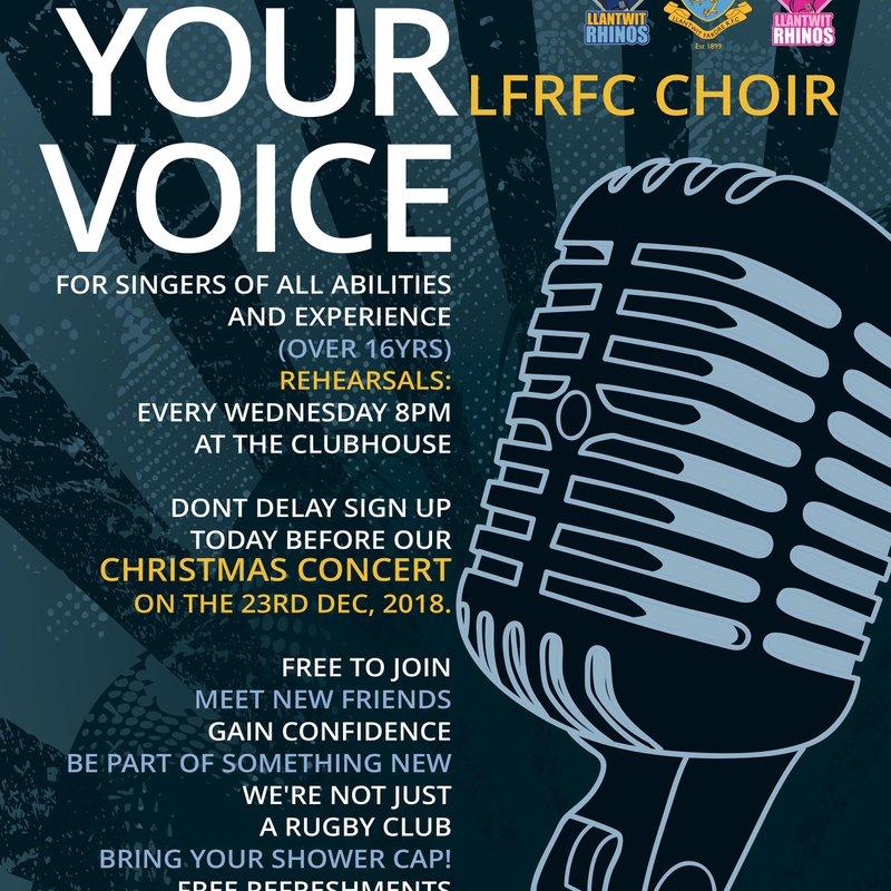 LFRFC Choir: FIND YOUR VOICE