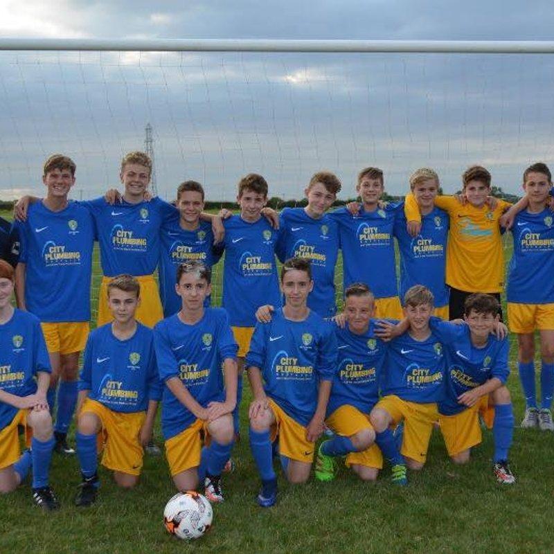 Under 15's beat Hucknall Town Harriers 2 - 8