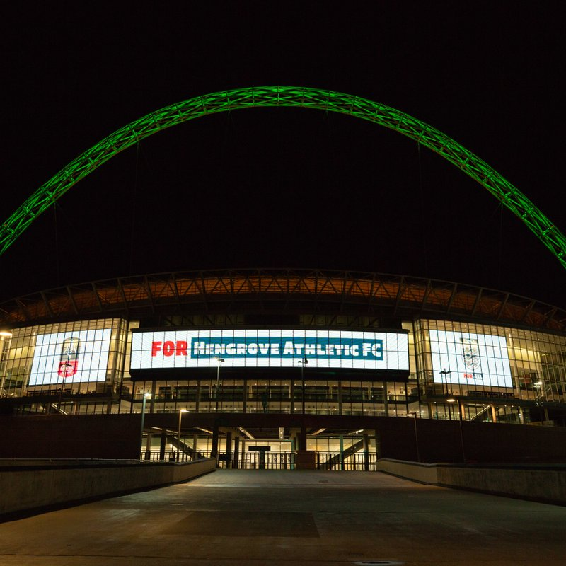 WEMBLEY STADIUM LIGHTS UP FOR HENGROVE
