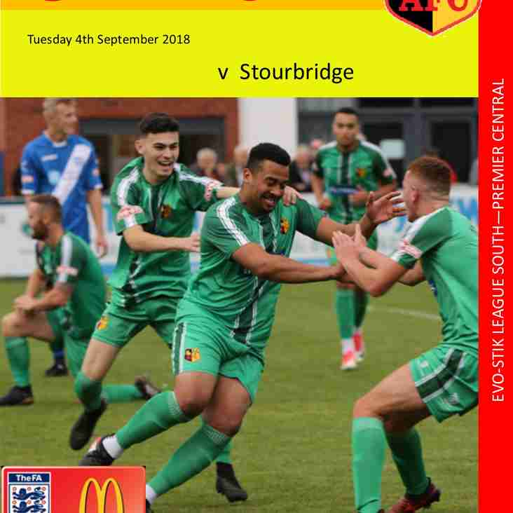 Match Day Programme - Stourbridge