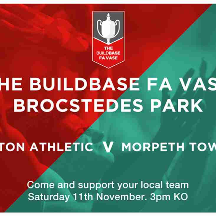 Another massive cup game this Saturday in the FA Vase