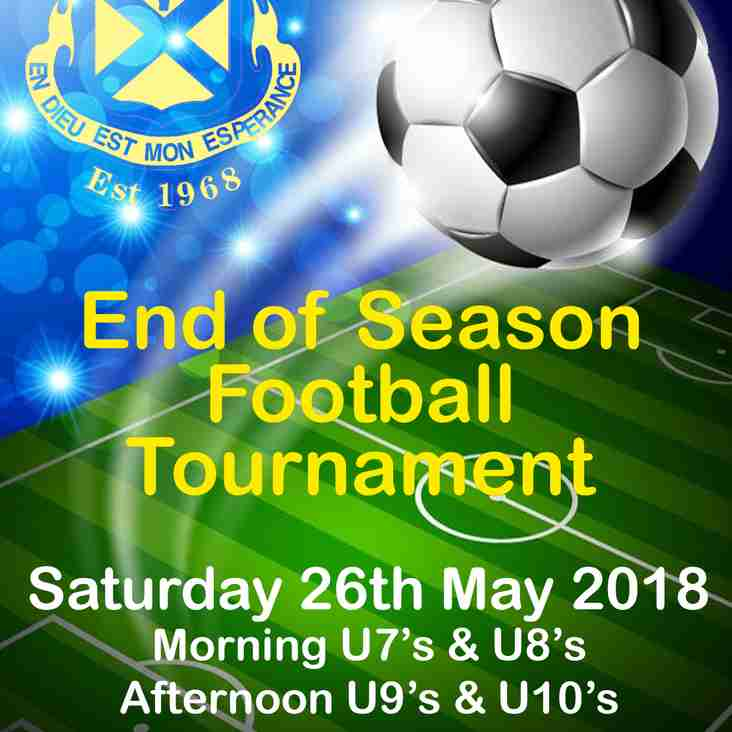 End Of Season Youth Football Tournament