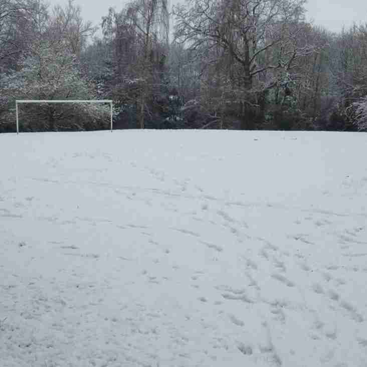 All MATCHES ARE OFF ON 9TH DECEMBER