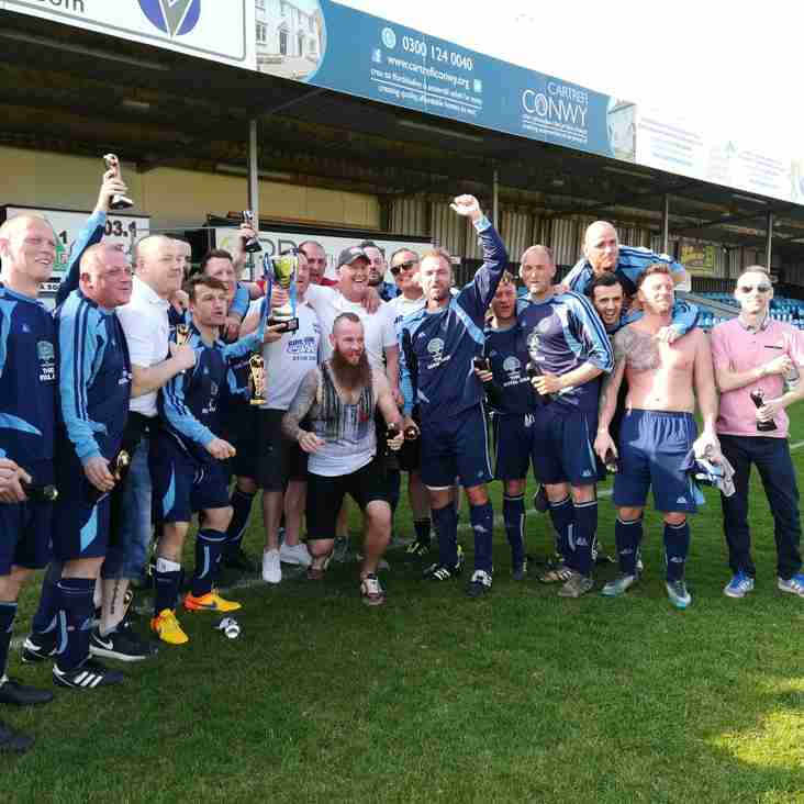Rhyl Vets are crowned North East Wales Veterans League Champions 2018/19