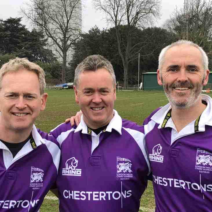 London Welsh Referees Praised