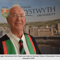 John Dawes London Welsh Honorary Life President honoured as Fellow of Aberystwyth University.