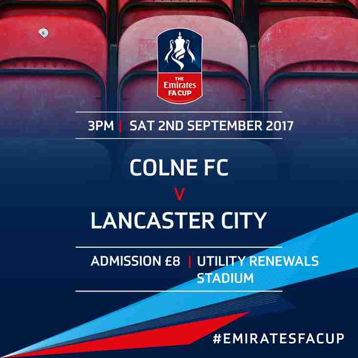 Our FA Cup journey starts on Saturday at Colne!