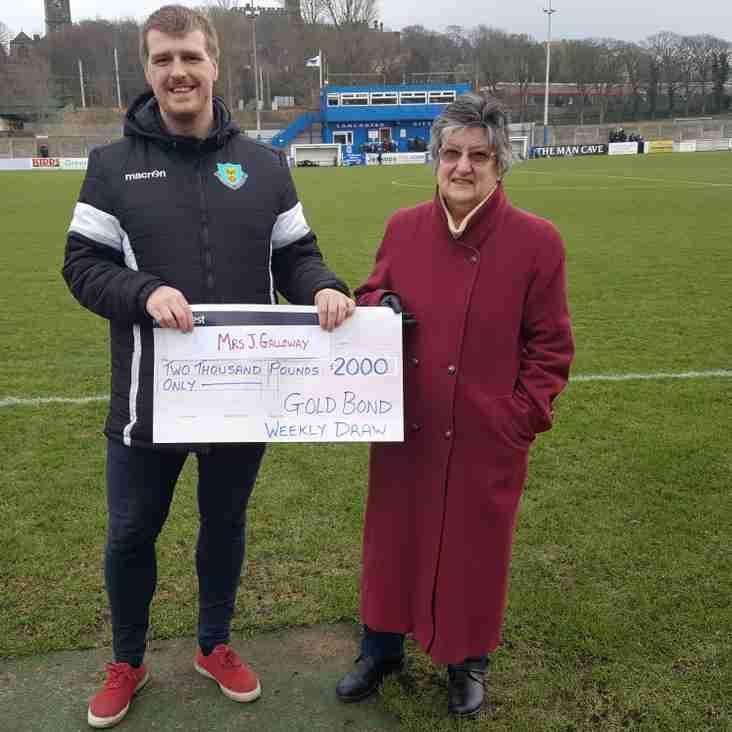 Yet another £2000 Goldbond Winner at Lancaster City!