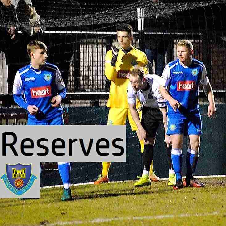 Reserves at Home on Thursday night vs RIASA, 7.45pm KO