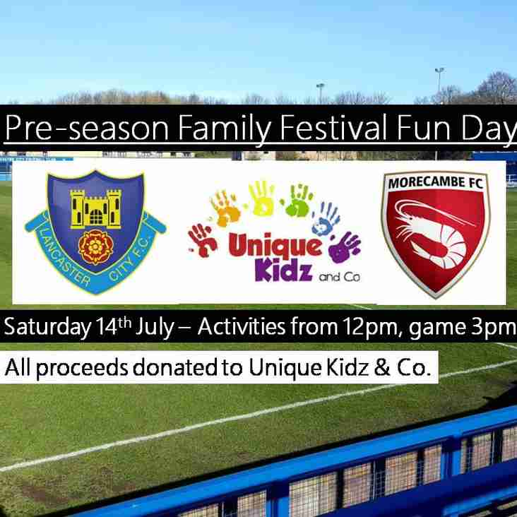 Lancaster City FC and Morecambe FC join forces for Pre Season Family Fun Festival