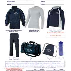 Maulden Netball Club Kit order