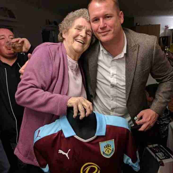 AUCTION OF SIGNED BURNLEY SHIRT