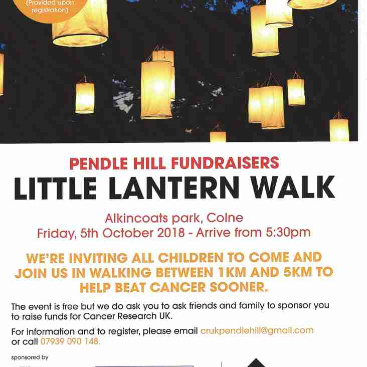 We're lighting the way for the LITTLE LANTERN WALK on Friday October 5th