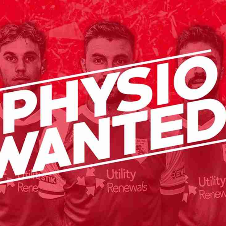 FIRST-TEAM PHYSIO NEEDED! ⚽️