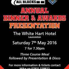 Launceston Rugby Club Annual Dinner & Awards Presentation